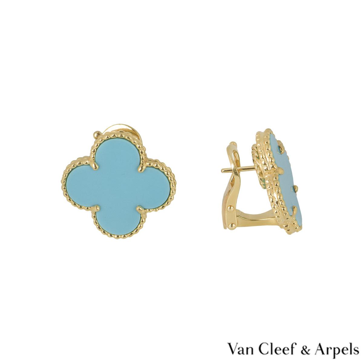 Van Cleef & Arpels Yellow Gold Magic Alhambra Earrings
